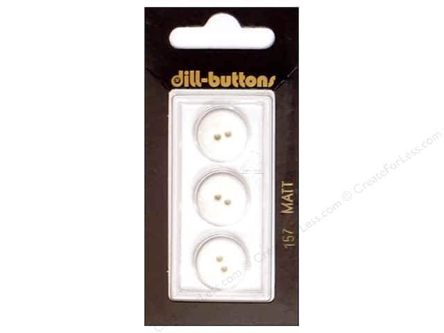 Dill 2 Hole Buttons 5/8 in. Pure White #157 3pc.