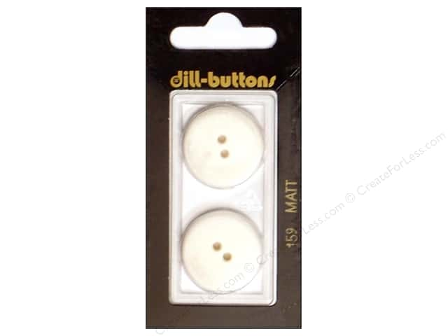Dill 2 Hole Buttons 7/8 in. Pure White #159 2pc.