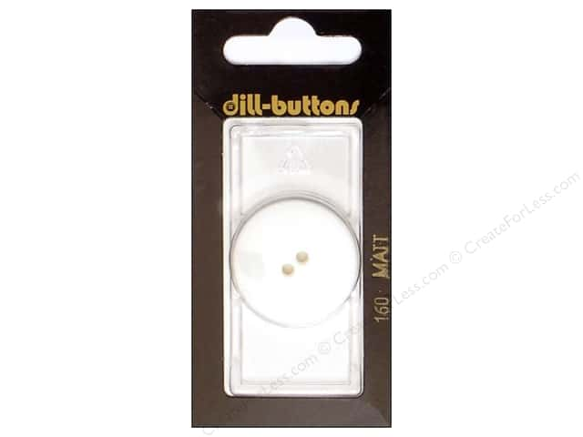 Dill 2 Hole Buttons 1 1/8 in. Pure White #160 1pc.
