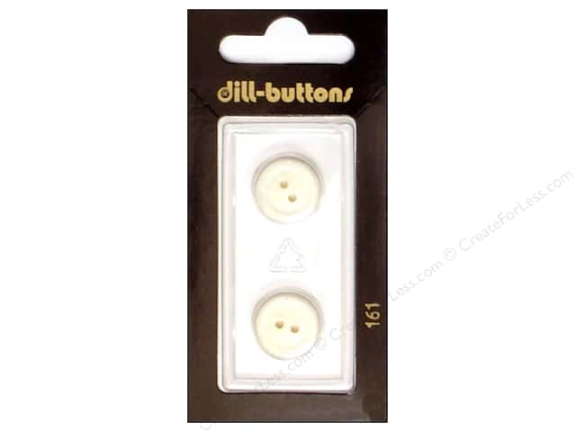 Dill 2 Hole Buttons 5/8 in. White #161 2 pc.