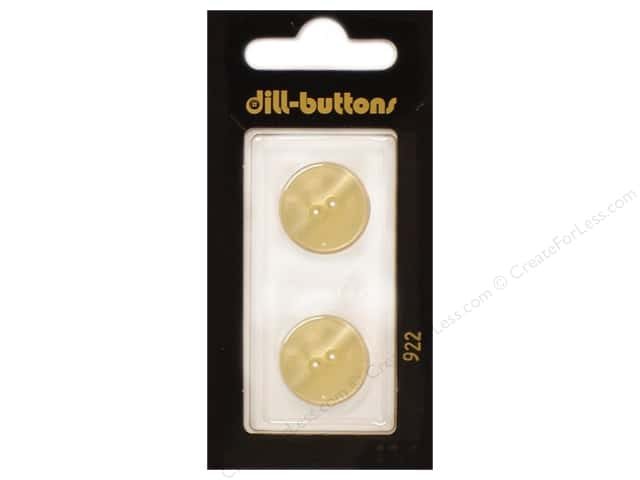 Dill 2 Hole Buttons 11/16 in. Cream #922 2pc.