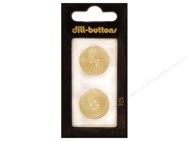 Dill 4 Hole Buttons 13/16 in. Beige #925 2pc.