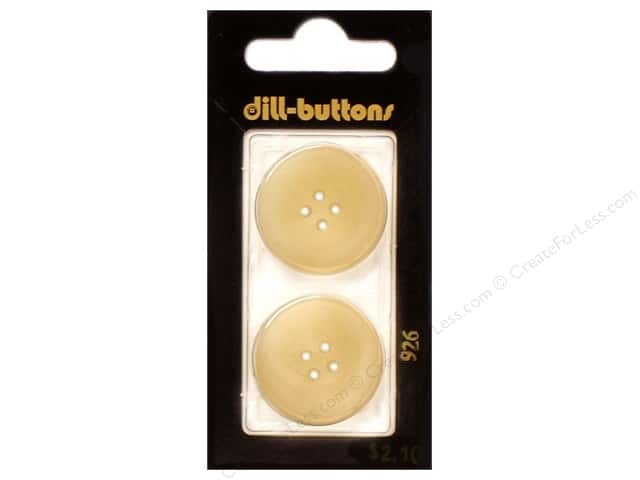 Dill 4 Hole Buttons 1 in. Beige #926 2 pc.