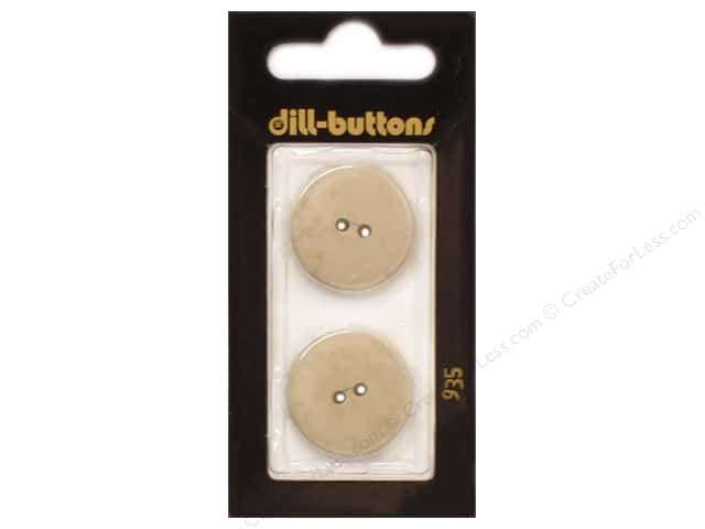 Dill 2 Hole Buttons 7/8 in. Beige #935 2pc.