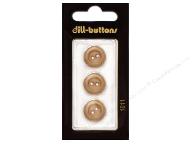 Dill 2 Hole Buttons 5/8 in. Brown #1011 3pc.