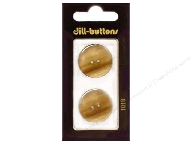 Dill 2 Hole Buttons 7/8 in. Beige #1018 2 pc.