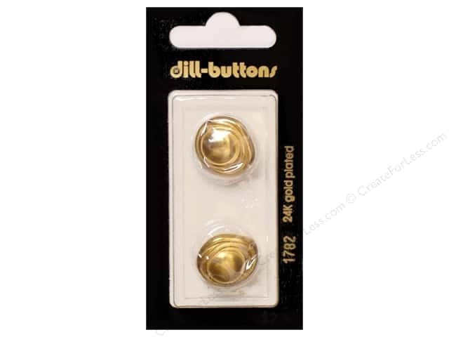 Dill Shank Buttons 11/16 in. Gold #1782 2pc.