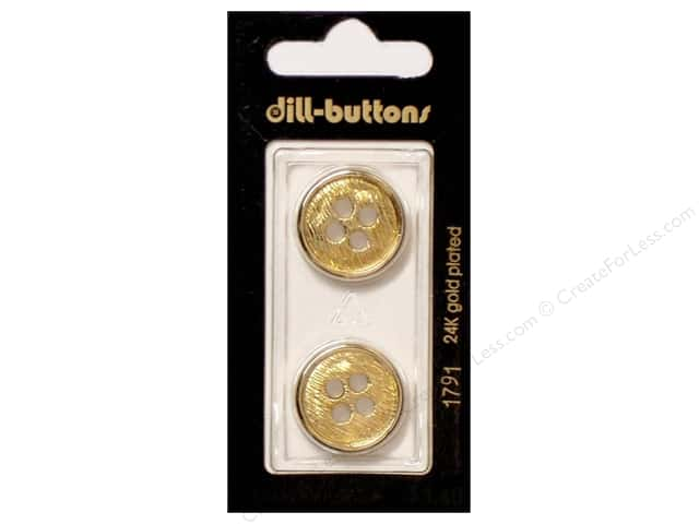 Dill 4 Hole Buttons 13/16 in. Gold #1791 2pc.