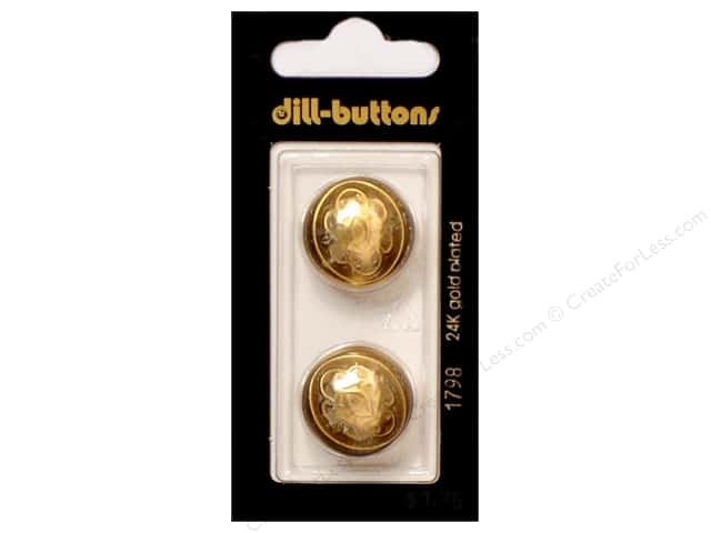 Dill Shank Buttons 13/16 in. Gold Metal #1798 2pc.