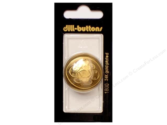 Dill Shank Buttons 1 1/4 in. Metal Dull Gold #1800 1pc.