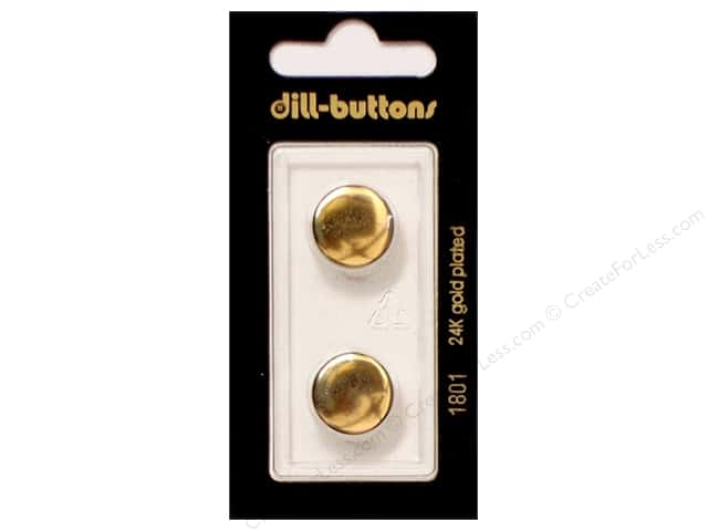 Dill Shank Buttons 5/8 in. Metal Gold #1801 2pc.