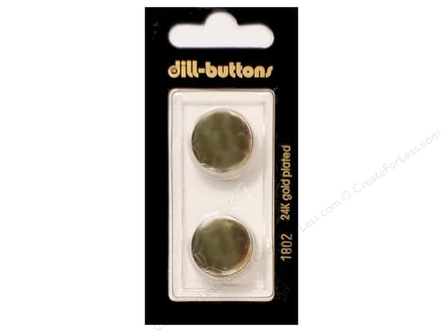 Dill Shank Buttons 11/16 in. Metal Gold #1802 2pc.