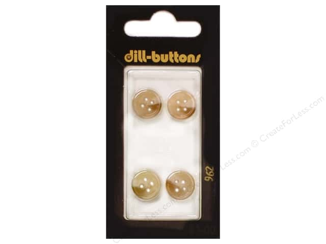 Dill 4 Hole Buttons 7/16 in. Beige #962 4pc.