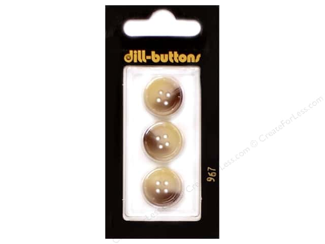 Dill 4 Hole Buttons 5/8 in. Beige #967 3pc.