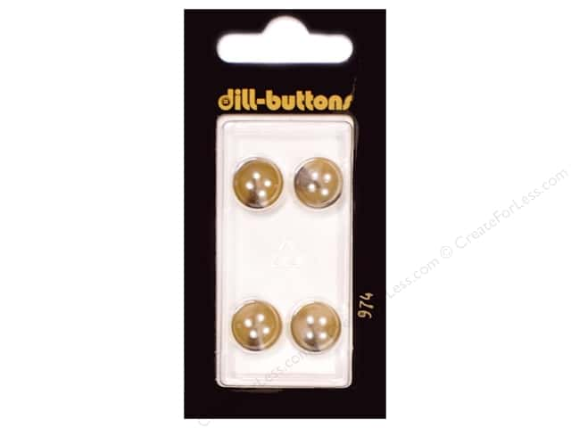 Dill 4 Hole Buttons 7/16 in. Beige #974 4pc.