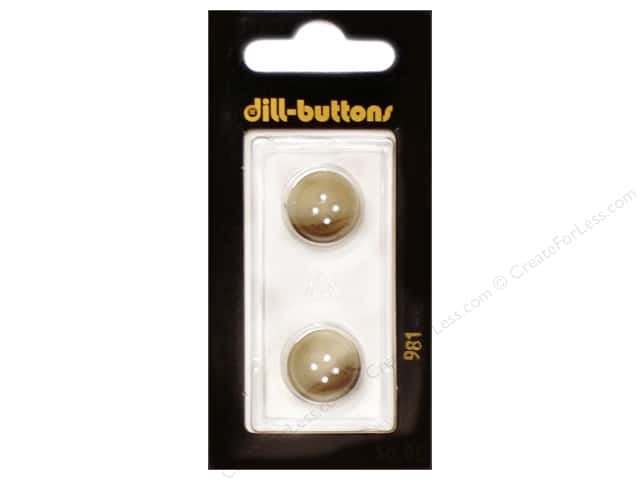 Dill 4 Hole Buttons 5/8 in. Beige #981 2pc.