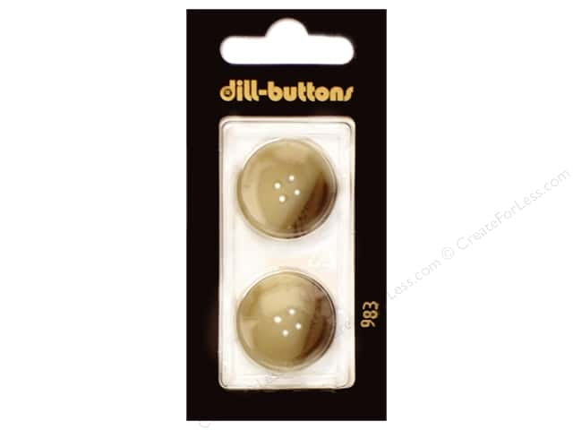 Dill 4 Hole Buttons 7/8 in. Beige #983 2pc.