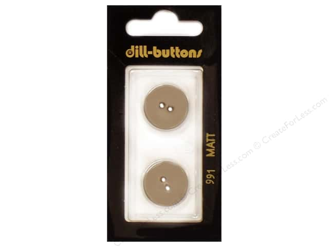 Dill 2 Hole Buttons 11/16 in. Beige #991 2 pc.
