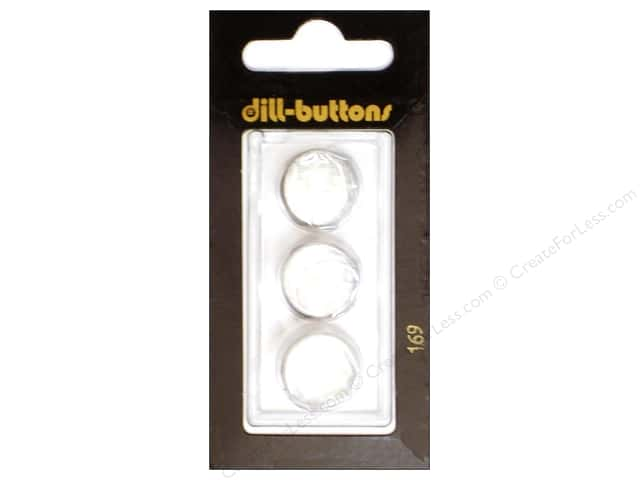 Dill Shank Buttons 5/8 in. Pure White #169 3pc.