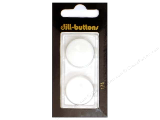 Dill Shank Buttons 7/8 in. Pure White #174 2pc.