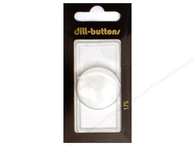 Dill Shank Buttons 1 1/8 in. Pure White #175 1 pc.