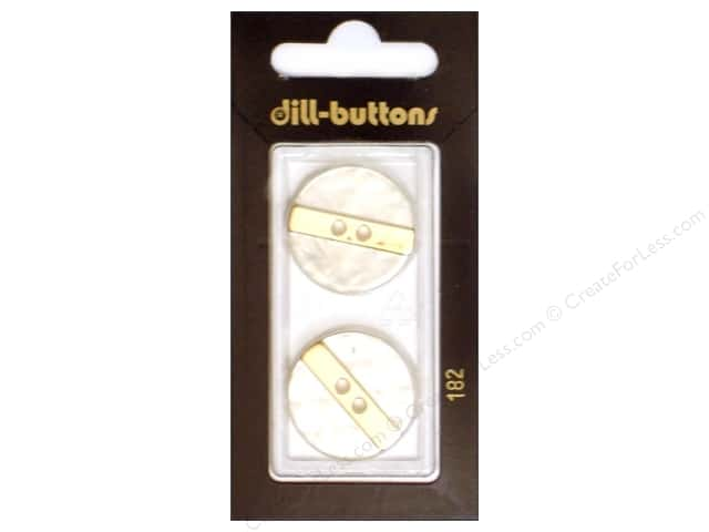 Dill 2 Hole Buttons 7/8 in. White Metal #182 2pc.