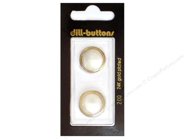 Dill Shank Buttons 11/16 in. White #200 2pc.