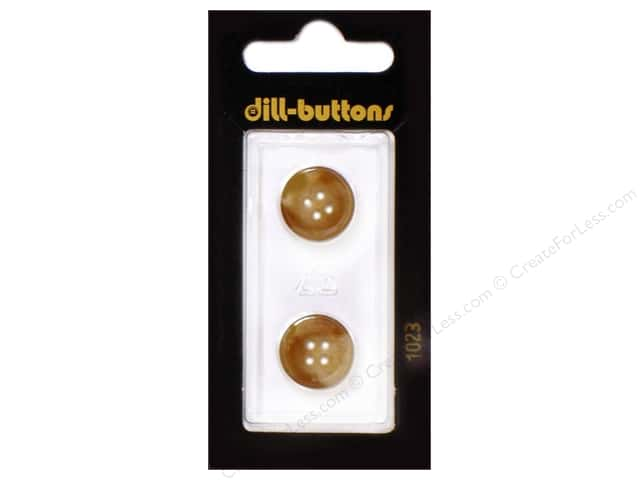 Dill 4 Hole Buttons 5/8 in. Brown #1023 2pc.