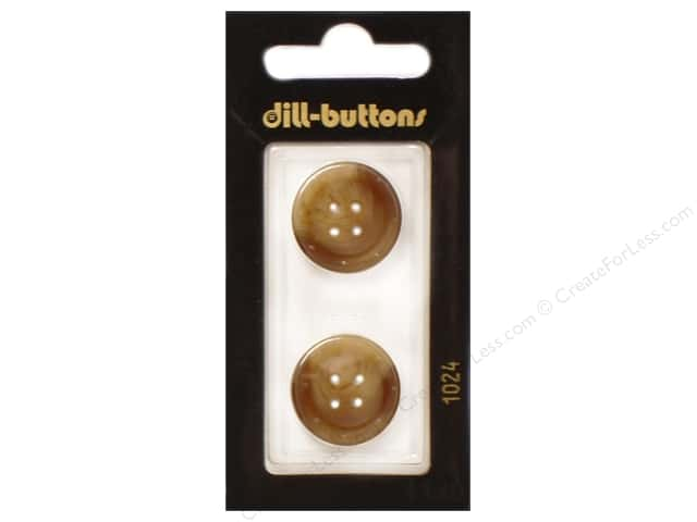 Dill 4 Hole Buttons 13/16 in. Brown #1024 2pc.