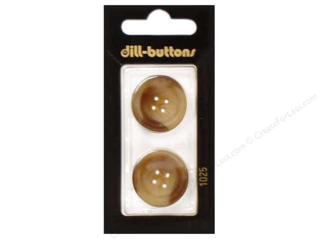 Dill 4 Hole Buttons 7/8 in. Brown #1025 2pc.