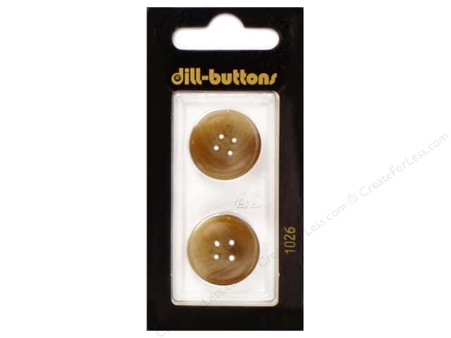 Dill 4 Hole Buttons 13/16 in. Brown #1026 2pc.