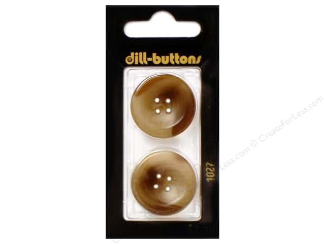 Dill 4 Hole Buttons 1 in. Brown #1027 2pc.