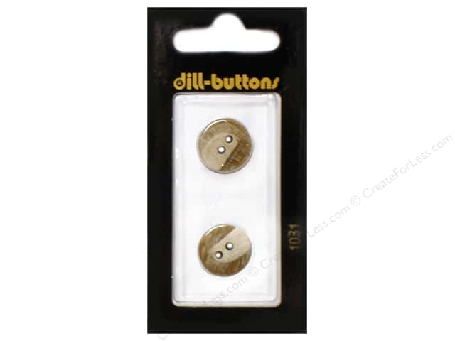 Dill 2 Hole Buttons 5/8 in. Beige  #1031 2pc.