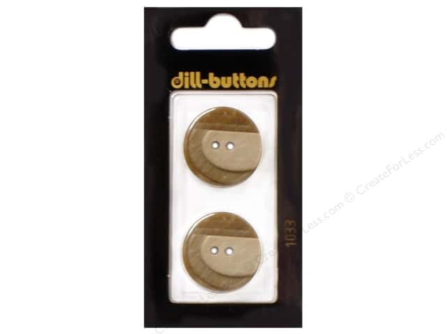 Dill 2 Hole Buttons 7/8 in. Beige #1033 2pc.