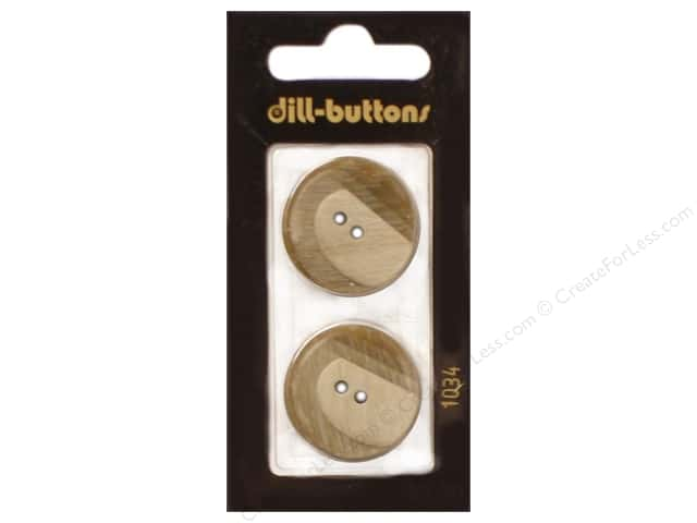 Dill 2 Hole Buttons 1 in. Beige #1034 2pc.