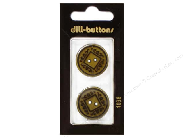 Dill 2 Hole Buttons 7/8 in. Beige #1038 2pc.