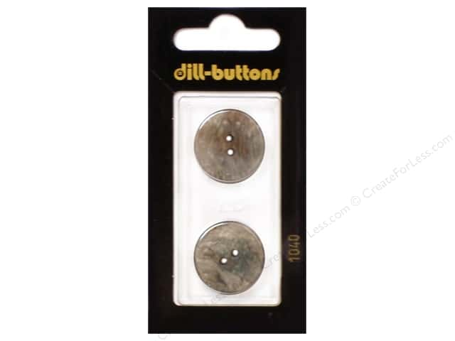 Dill 2 Hole Buttons 13/16 in. Brown #1040 2pc.