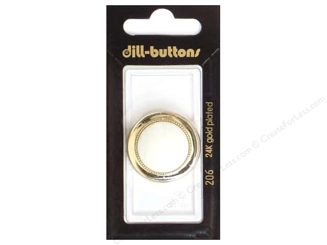Dill Shank Buttons 13/16 in. White #206 2pc.