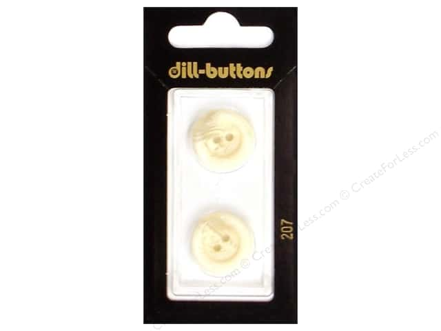 Dill 2 Hole Buttons 11/16 in. White #207 2pc.