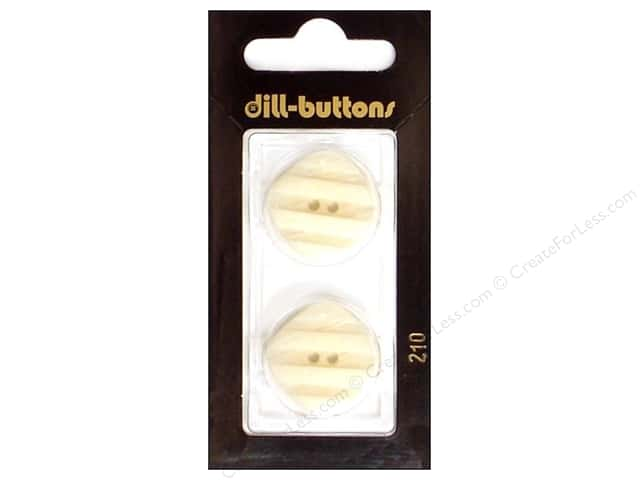 Dill 2 Hole Buttons 7/8 in. White #210 2pc.