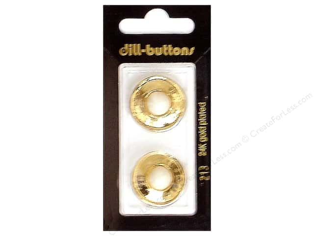 Dill Shank Buttons 7/8 in. Gold Metal #213 2pc.