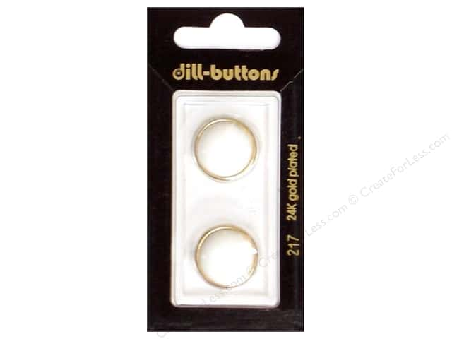Dill Shank Buttons 11/16 in. Pure White Metal #217 3pc.