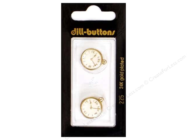 Dill Shank Buttons 5/8 in. Enamel Clock #225 2pc.