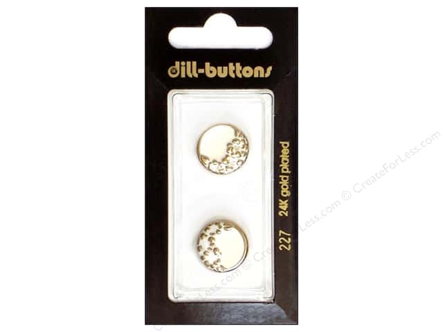 Dill Shank Buttons 5/8 in. Enamel White #227 2pc.
