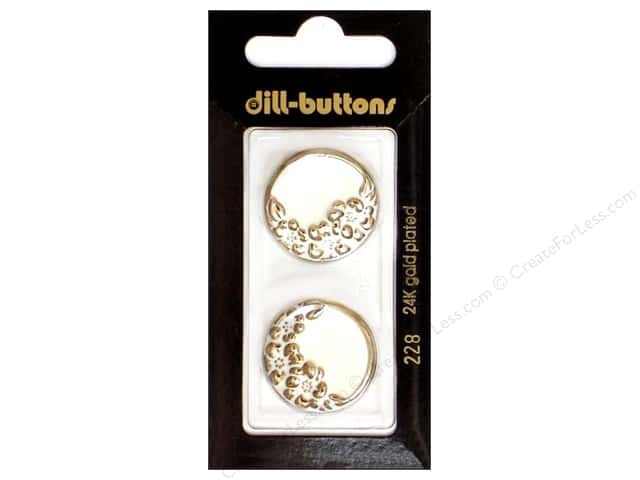 Dill Shank Buttons 7/8 in. White Enamel #228 2pc.