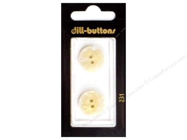 Dill 2 Hole Buttons 11/16 in. White #231 2 pc.