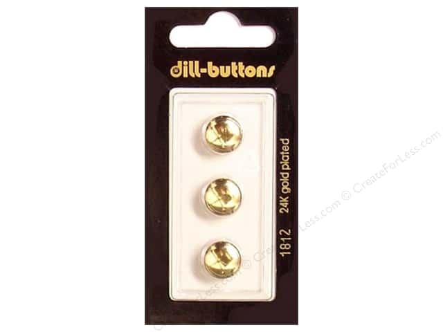 Dill Shank Buttons 7/16 in. Gold #1812 3pc.