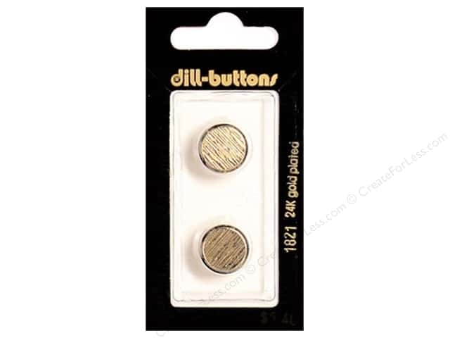 Dill Shank Buttons 9/16 in. Gold Metal #1821 2pc.