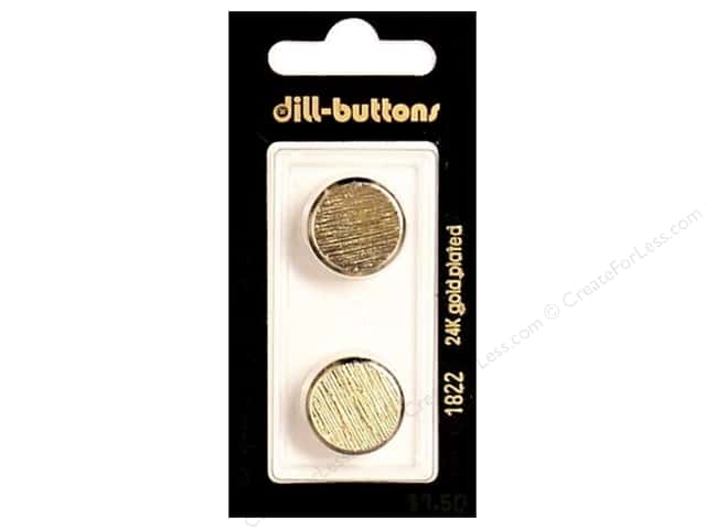 Dill Shank Buttons 11/16 in. Gold Metal #1822 2pc.