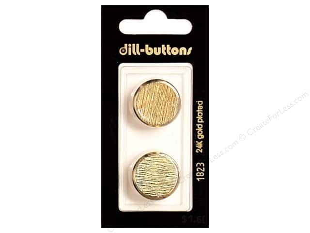 Dill Shank Buttons 13/16 in. Gold Metal #1823 2pc.